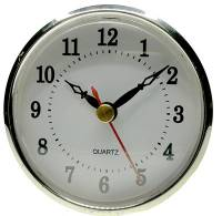 """Clock Repair & Replacement Parts - 70mm (2-3/4"""") Arabic White Dial Fit-Up"""