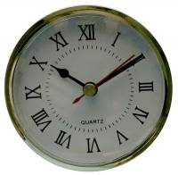 "Clock Repair & Replacement Parts - Movements, Motors, Rotors, Fit-Ups & Related - 70mm (2-3/4"") Roman White Dial Fit-Up"