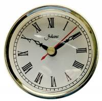 "Clock Repair & Replacement Parts - Movements, Motors, Rotors, Fit-Ups & Related - 80mm (3-1/8"") Roman White Dial Fit-Up"