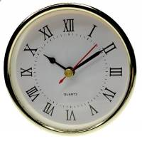"Clock Repair & Replacement Parts - Movements, Motors, Rotors, Fit-Ups & Related - 102mm (4"") Roman White Dial Fit-Up"