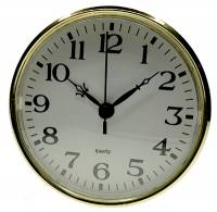 "Clock Repair & Replacement Parts - Movements, Motors, Rotors, Fit-Ups & Related - 110mm (4-5/16"") Arabic White Dial Fit-Up"