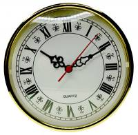 "Clock Repair & Replacement Parts - Movements, Motors, Rotors, Fit-Ups & Related - 160mm (6-1/4"") Roman White Dial Fit-Up"