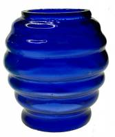 Clearance Items - Beehive Night Lamp Shade-Miniature Reproduction Blue Glass