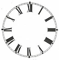 "Clock Repair & Replacement Parts - Dials & Related - 3"" Plain White Roman Paper Dial"