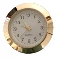 "Clock Repair & Replacement Parts - Movements, Motors, Rotors, Fit-Ups & Related - 30mm (1-3/16"") Arabic White Dial Fit-Up"