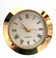 "Clock Repair & Replacement Parts - Movements, Motors, Rotors, Fit-Ups & Related - 30mm (1-3/16"") Roman White Dial Fit-Up"