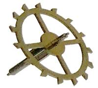Wheels & Wheel Blanks, Motion Works, Fans & Relate - Escape Wheels - Blessing #016-066 Escape Wheel With Pinion