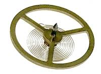 Clock Repair & Replacement Parts - Balances, Escapements & Components - Blessing # 016-075 Balance Wheel With Hairspring