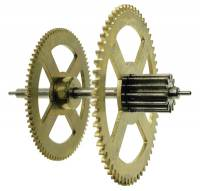 Clock Repair & Replacement Parts - Wheels & Wheel Blanks, Motion Works, Fans & Relate - Hermle Third Wheel (Time) For 451-461-1151-1161 (114cm) - With Second Hand