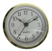 "Clock Repair & Replacement Parts - Movements, Motors, Rotors, Fit-Ups & Related - 65mm (2-9/16"") Arabic White Dial Fit-Up"