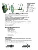 Movements, Motors, Rotors, Fit-Ups & Related - Quartz Movements, Hardware and Tools - Instructions To Install A Quartz Movement