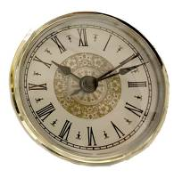 "Clock Repair & Replacement Parts - Movements, Motors, Rotors, Fit-Ups & Related - 70mm (2-3/4"") Fancy Roman Ivory Dial Fit-Up"