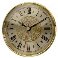 "Clock Repair & Replacement Parts - Movements, Motors, Rotors, Fit-Ups & Related - 110mm (4-5/16"") Fancy Gold Roman Dial Fit-Up"