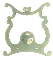 Pendulums Accessories & Related - Lyre Pendulum Attachments & Parts - Scrolled Lyre Pendulum Plate   66mm Wide x 76mm Tall
