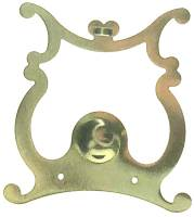 Pendulums Accessories & Related - Lyre Pendulum Attachments & Parts - Scrolled Lyre Pendulum Plate   86mm Wide x 101mm Tall