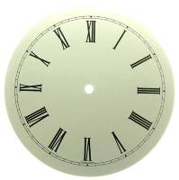 "Clearance Items - 7-15/16"" White Roman Round Aluminum Dial"
