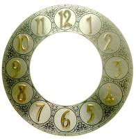 "Clearance Items - 8-1/2"" Silver Raised Arabic Numeral Aluminum Chapter Ring"