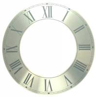 "Dials & Related - Dial Related Items (Chapter & Time Rings, Dial Cutters, Dial Screws, Enamel, Arbors, etc.) - 9-3/4""Silver Roman Aluminum Chapter Ring"