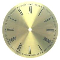 "Clearance Items - 7"" Round Brushed Brass Roman Aluminum Dial"