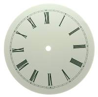 "Clock Repair & Replacement Parts - 7"" Round White Roman Aluminum Dial"
