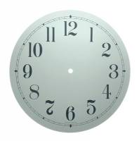 "Metal Dials - Round Aluminum & Heavy Metal Backed Dials - 11-3/8"" Round White Arabic Aluminum Dial"