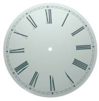 "Metal Dials - Round Aluminum & Heavy Metal Backed Dials - 11-3/8"" Round White Roman Aluminum Dial"