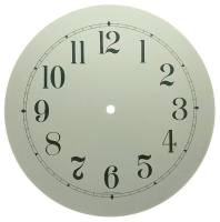 "Clock Repair & Replacement Parts - 10"" White Arabic Aluminum Round Dial"