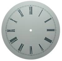 "Clock Repair & Replacement Parts - 10"" White Roman Aluminum Round Dial"