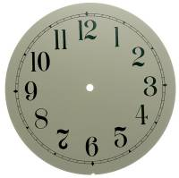 "Clock Repair & Replacement Parts - 10"" Ivory Arabic Aluminum Round Dial"