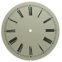 "Metal Dials - Round Aluminum & Heavy Metal Backed Dials - 10"" Ivory Roman Aluminum Round Dial"