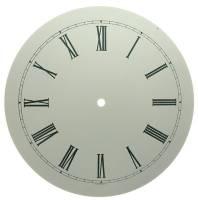 """Clock Repair & Replacement Parts - Dials & Related - 11"""" White Roman Aluminum Round Dial"""