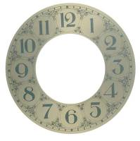 """Clock Repair & Replacement Parts - Dials & Related - 5-1/2"""" Brushed Brass Arabic Chapter Ring"""