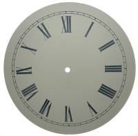 "Clock Repair & Replacement Parts - 11-1/8"" Ivory Roman Aluminum Dial"