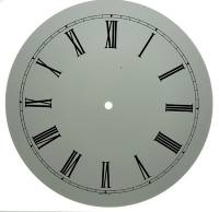 "Clock Repair & Replacement Parts - 11"" White Roman Aluminum Round Dial"