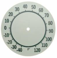 "Clock Repair & Replacement Parts - 6"" Aluminum Thermometer Dial"