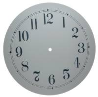 "Clock Repair & Replacement Parts - Dials & Related - 12"" White Arabic Aluminum Dial"
