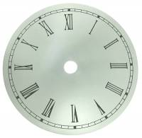 "Metal Dials - Round Aluminum & Heavy Metal Backed Dials - 4-1/2"" Round Aluminum White Roman Dial"