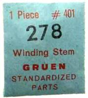 Gruen #278 Winding Stem