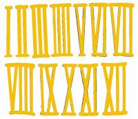 Numeral Sets, Minute  & Hour Markers, Bar & Dot Sets - Roman Numeral Sets - 24mm Roman Numeral Set