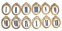 Numeral Sets, Minute  & Hour Markers, Bar & Dot Sets - Roman Numeral Sets - 30mm Fancy Cartouche Roman Numeral Set