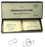 Clock Repair & Replacement Parts - Clicks & Clicksprings - Clickspring Assortment for German Alarm Clocks