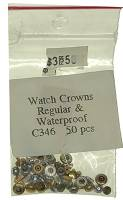 Watch & Jewelry Parts & Tools - Watch Crown 50-Piece Assortment