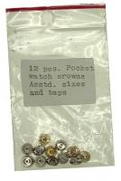 Watch & Jewelry Parts & Tools - Pocket Watch Crown 12-Piece Assortment