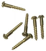 "Clock Repair & Replacement Parts - Fasteners - Brass Wood Screw #0 x 3/8""  25-Piece Pack"