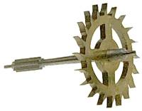Clock Repair & Replacement Parts - Wheels & Wheel Blanks, Motion Works, Fans & Relate - Kern 400-Day Escape Wheel (M12)