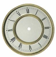 """Clock Repair & Replacement Parts - Dials & Related - 6-3/8"""" Stylized Arabic Dial/Bezel/Pan Combo With 5-5/8"""" Time Track"""
