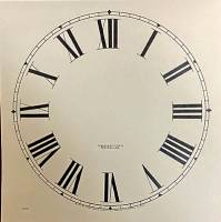 "Paper Dials - Paper Dials - With trademarks - SHIPLEY-12 - 11-1/2"" New Haven Roman Dial-Ivory"