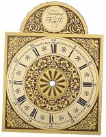 "Dials & Related - Metal Dials - 6"" X 6"" X 8"" Tempus Fugit Brass & Silver Arch Dial"