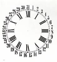 "BEDCO-12 - 11"" Sessions Calendar Dial-White"