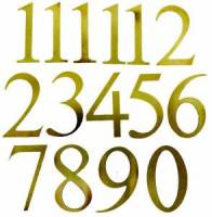 Numeral Sets, Minute  & Hour Markers, Bar & Dot Sets - Arabic Numeral Sets - Timesaver - Milled Brass Arabic Number Set-30mm